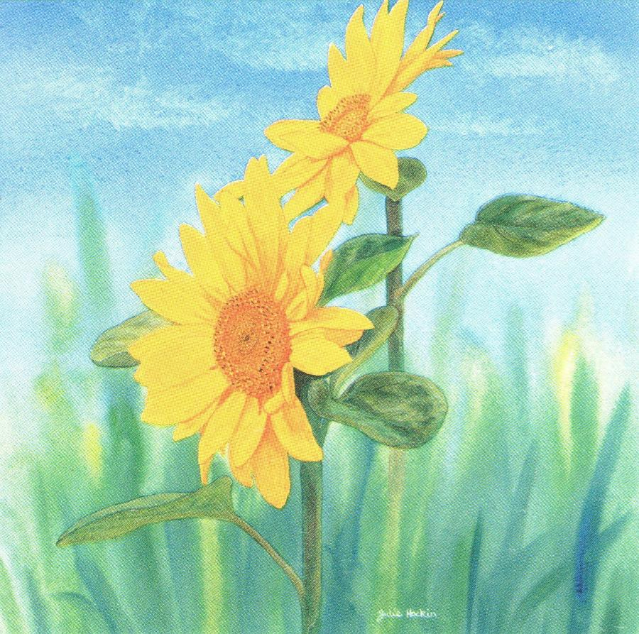Square Fridge Magnet - Sunflower