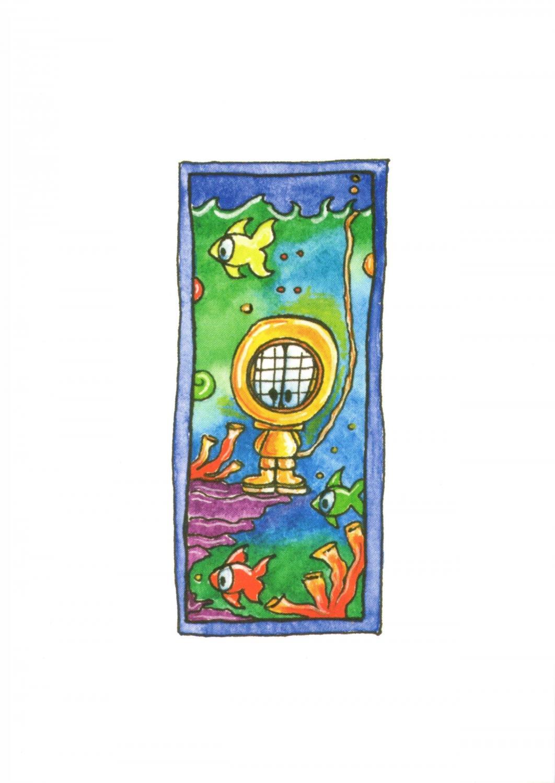 A6 Card - Diver