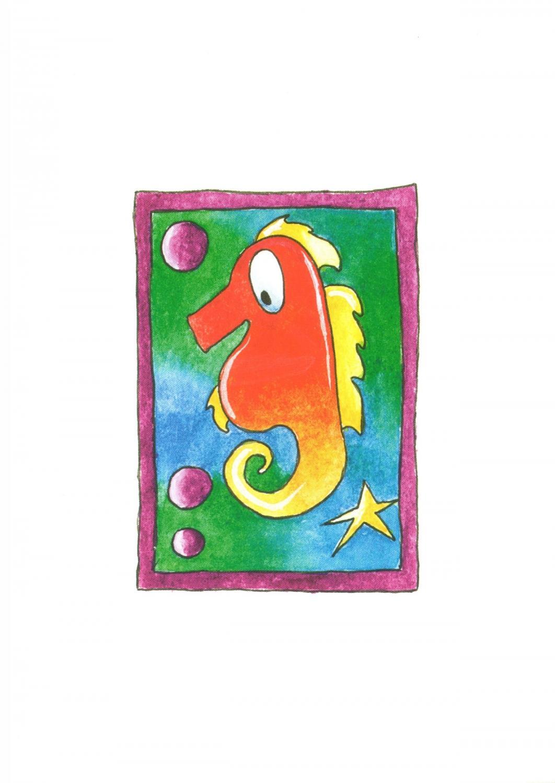 A6 Card - Seahorse