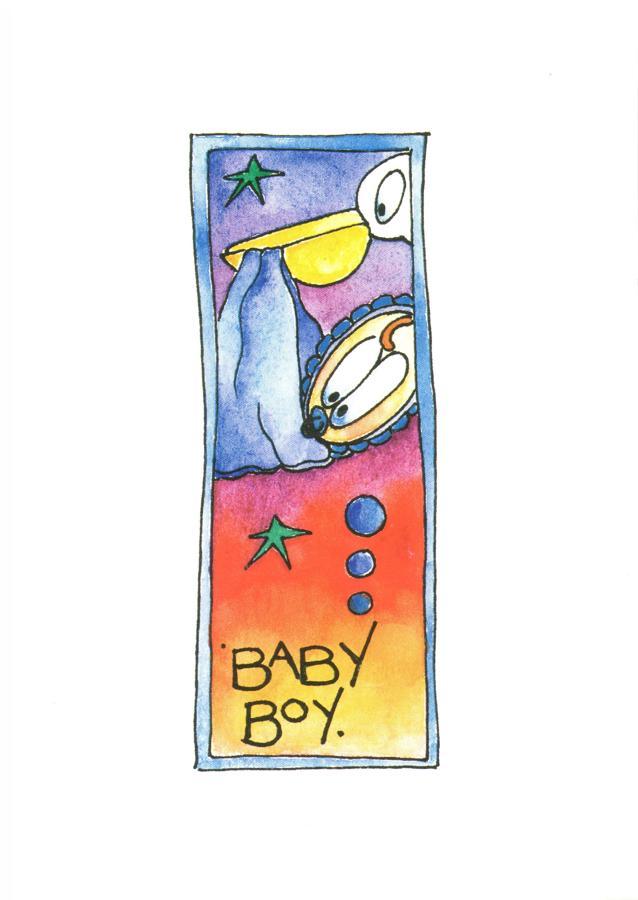 A6 Card - Baby Boy