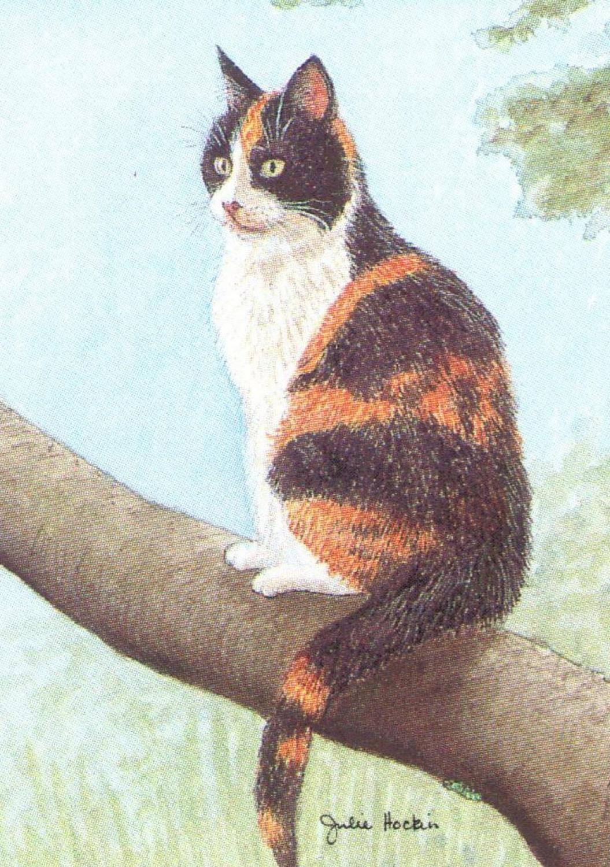 Rectangular Keyring - Tortoiseshell Cat