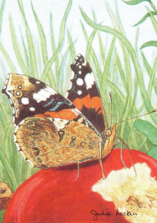 Rectangular Keyring - Garden Butterfly