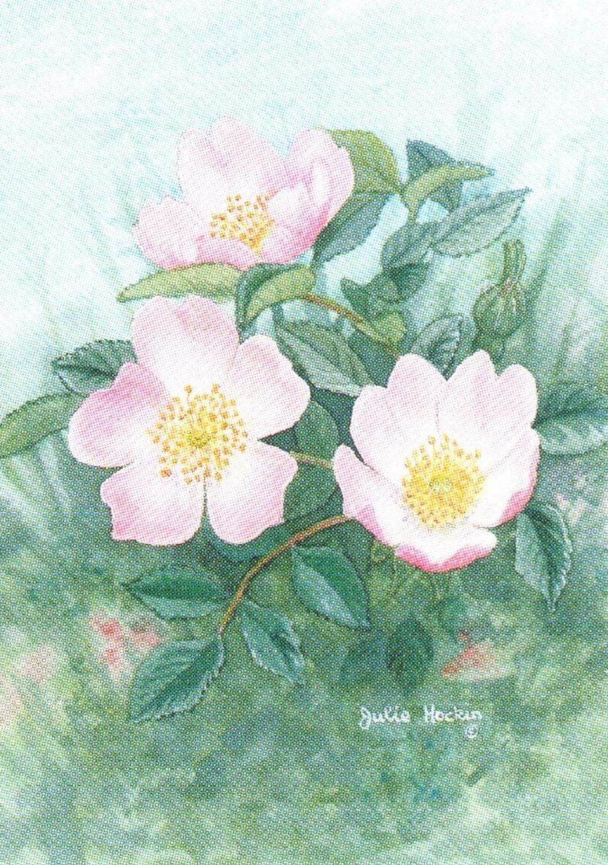 Rectangular Keyring - Wild Rose