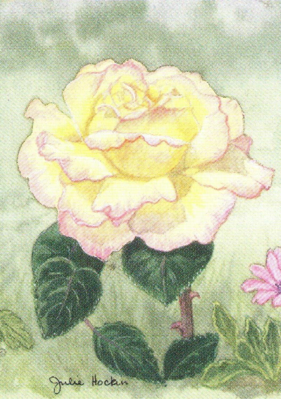 Rectangular Keyring - Rose Picadilly