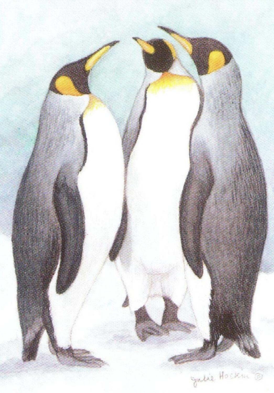Rectangular Keyring - Penguins