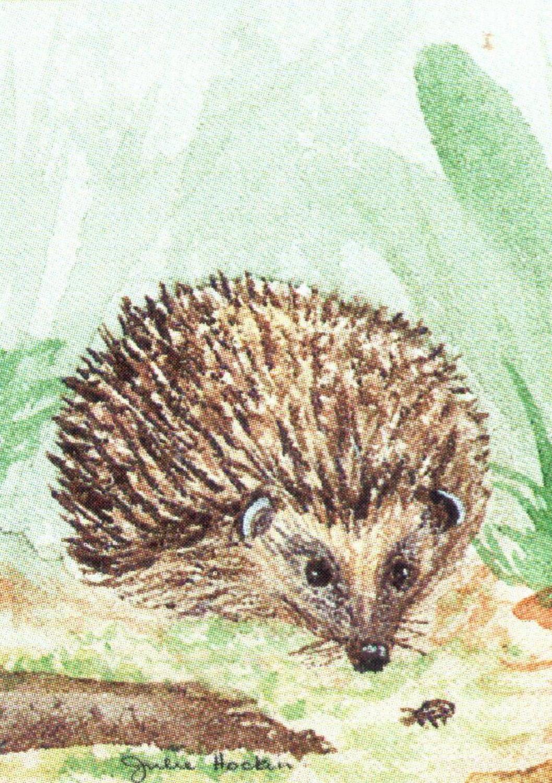 Rectangular Keyring - Hedgehog 2