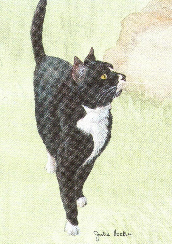 Rectangular Keyring - Black Cat