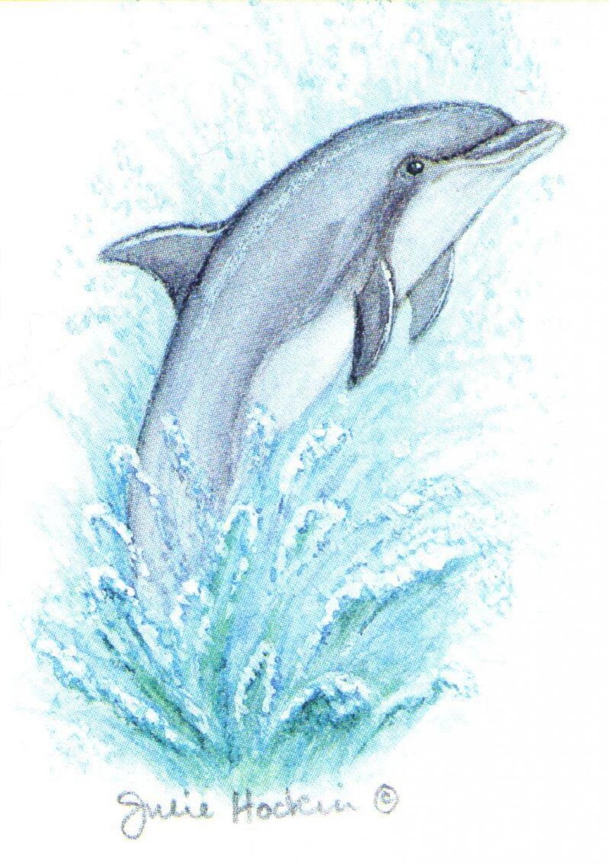 Rectangular Keyring - Dolphin