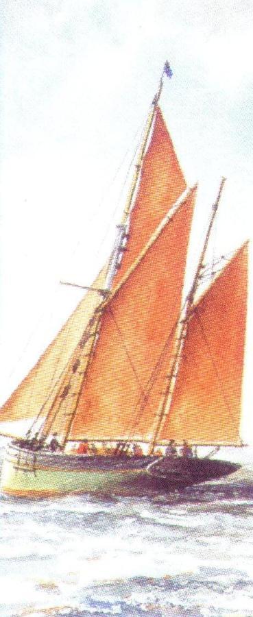 Mini Keyring - Brixham Trawler
