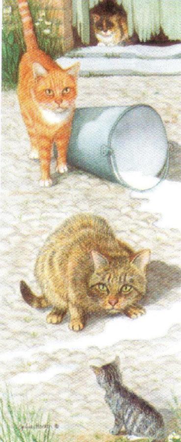 Mini Keyring - Farmyard Cats