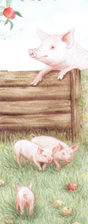 Mini Keyring - Pigs