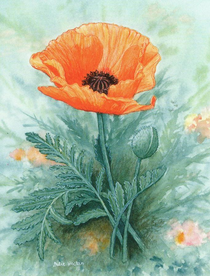 Pack of 5 Notecards - Poppy