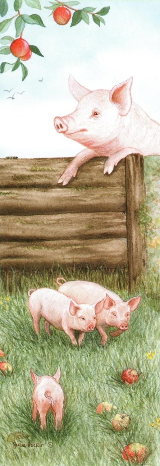 Bookmark - Pigs