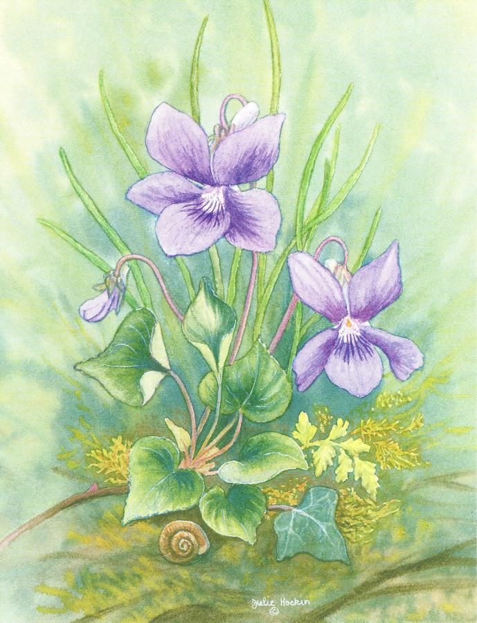 Pack of Notecards - Violets