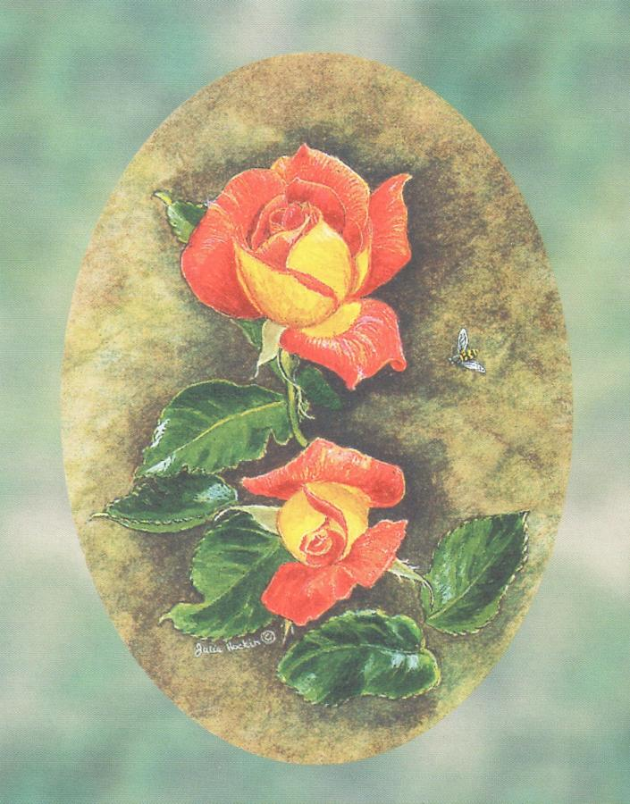 Pack of 5 Notecards - Rose Picadilly
