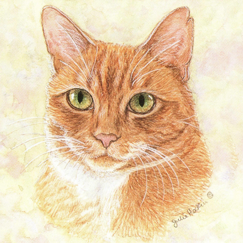 Acrylic Coaster - Ginger Cat