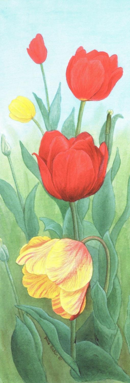 Bookmark - Tulips
