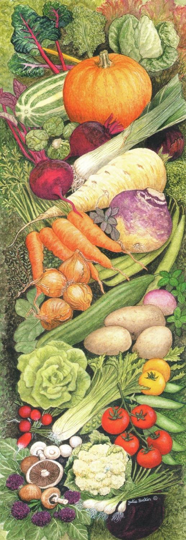 Bookmark - Kitchen Vegetables