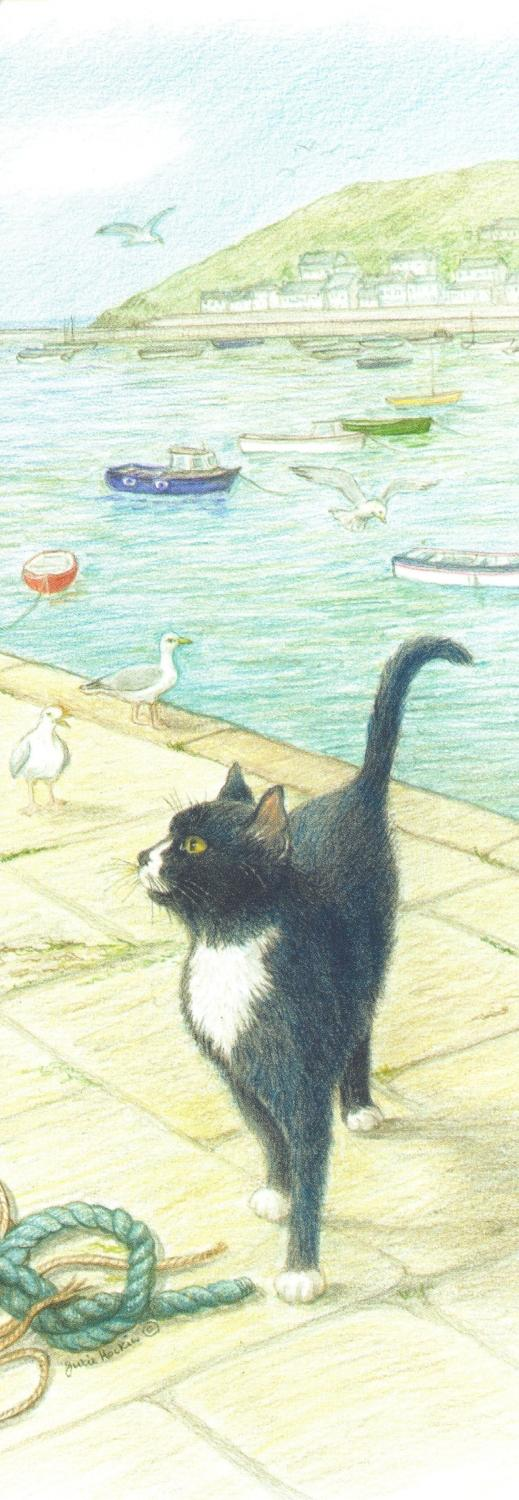 Bookmark - Cat on the Quay