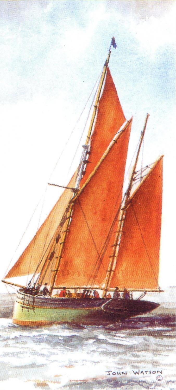 Magnetic Bookmark - Brixham Trawler