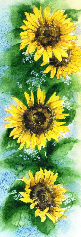 Bookmark - Sunflowers