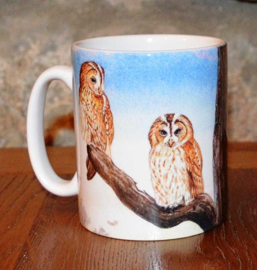 Mug - Tawny Owls at Sunset