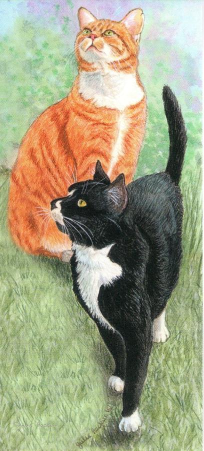 Magnetic Bookmark - Black & Ginger Cats