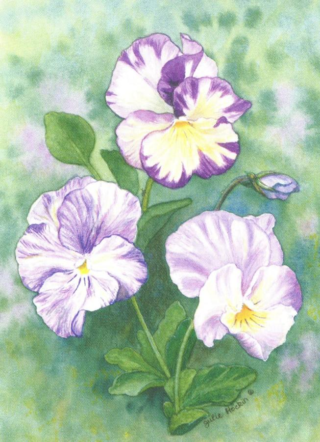 Folded Gift Tag Pansy