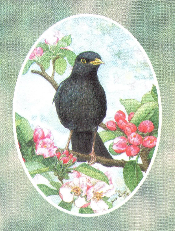 Folded Gift Tag Blackbird