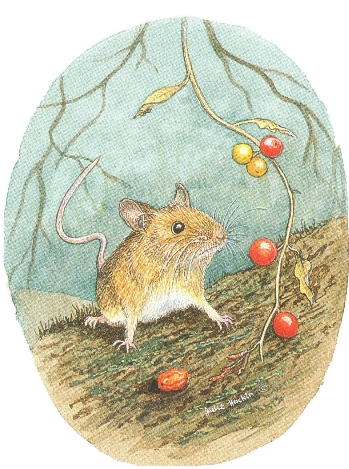 Strung Gift Tag Wood Mouse