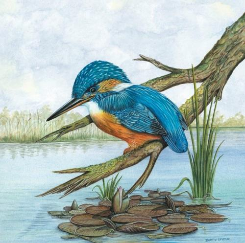 Ceramic Pot Stand Kingfisher