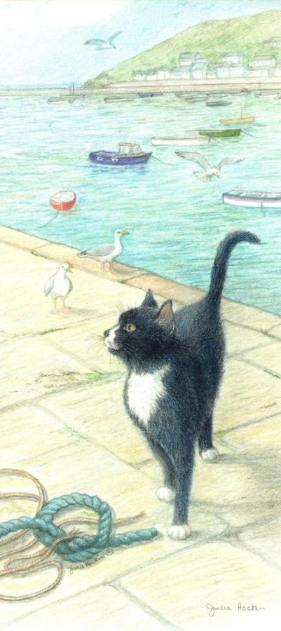 Magnetic Bookmark - Cat on the Quay