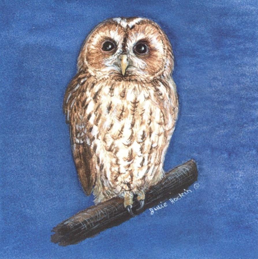 Ceramic Pot Stand  Tawny Owl