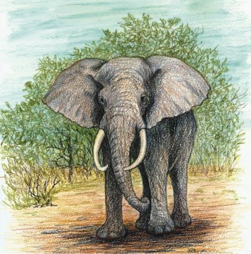 Ceramic Pot Stand Elephant