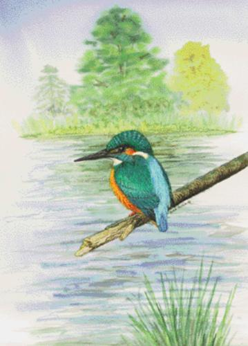 Glass Work Top Saver - Kingfisher