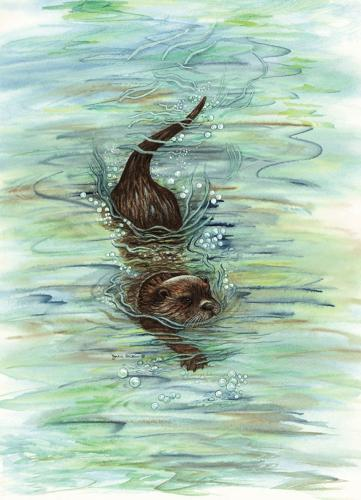 Glass Work Top Saver - Otter