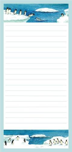 Magnetic Shopping List Pad - Penguins