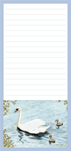 Magnetic Shopping List Pad - Swan