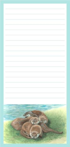 Magnetic Shopping List Pad - Tangle of Otters