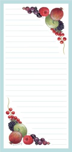 Magnetic Shopping List Pad - Fruit