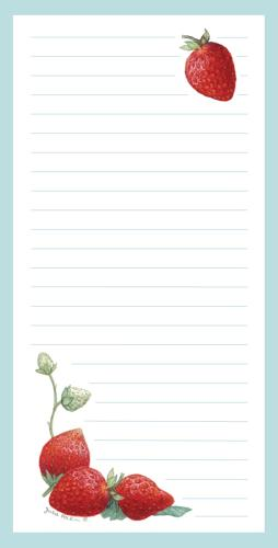 Magnetic Shopping List Pad - Strawberry