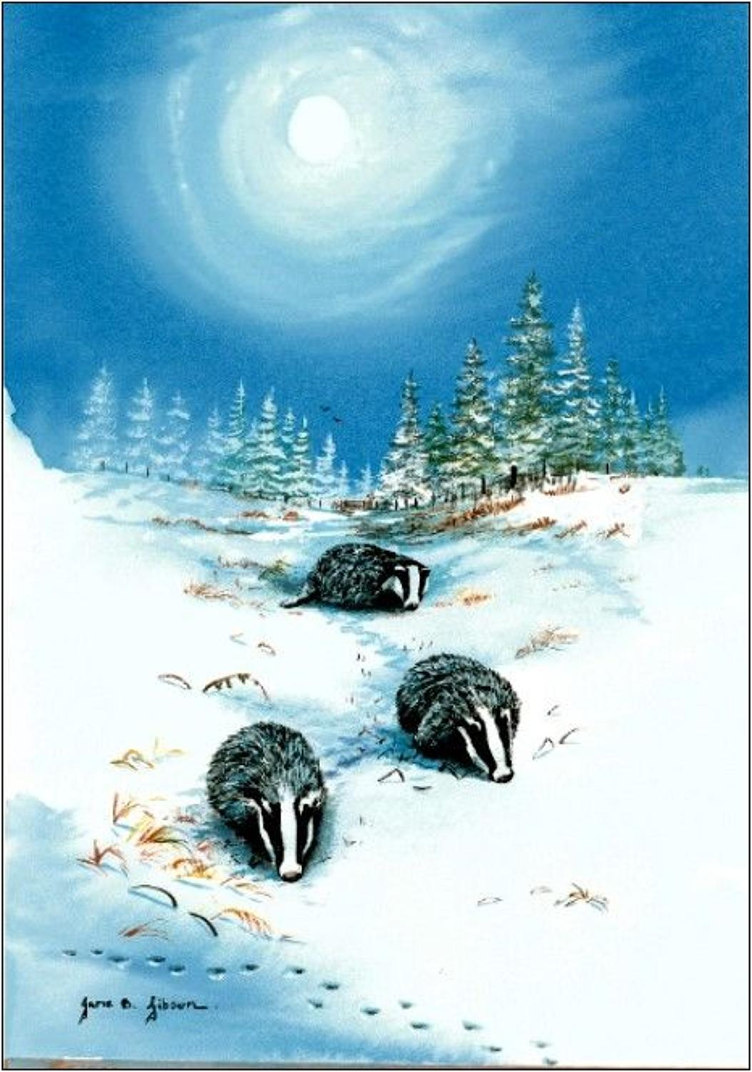 PEn - Badgers in the Snow