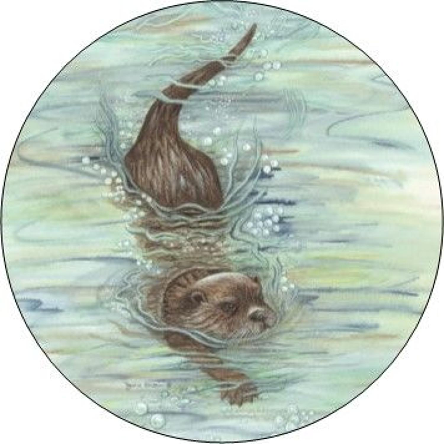Compact Pocket Mirror - Otter