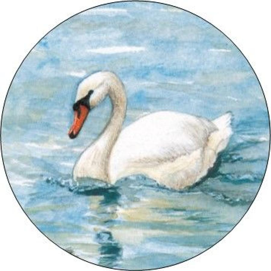 Compact Pocket Mirror - Swan