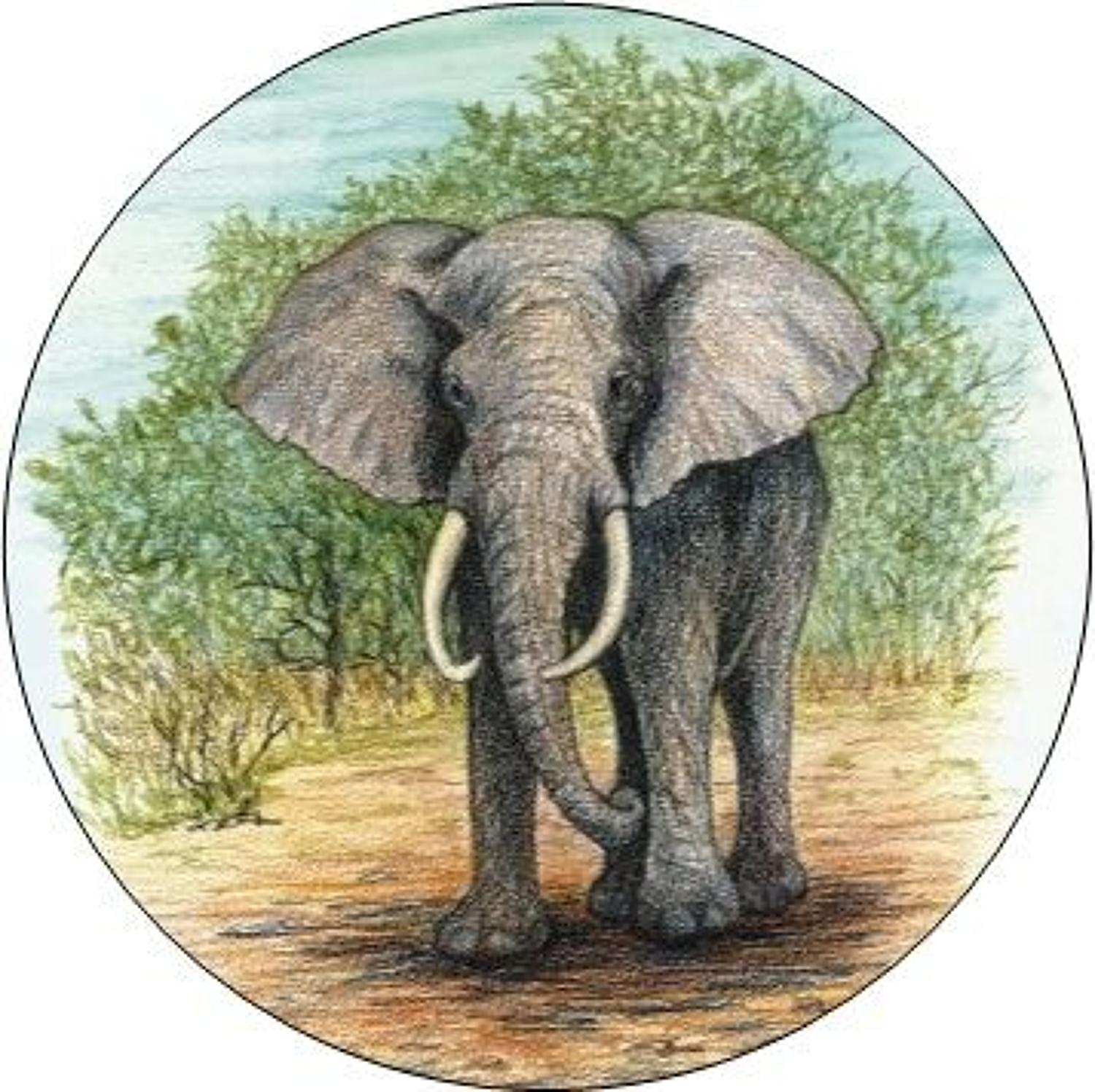 Compact Pocket Mirror - Elephant