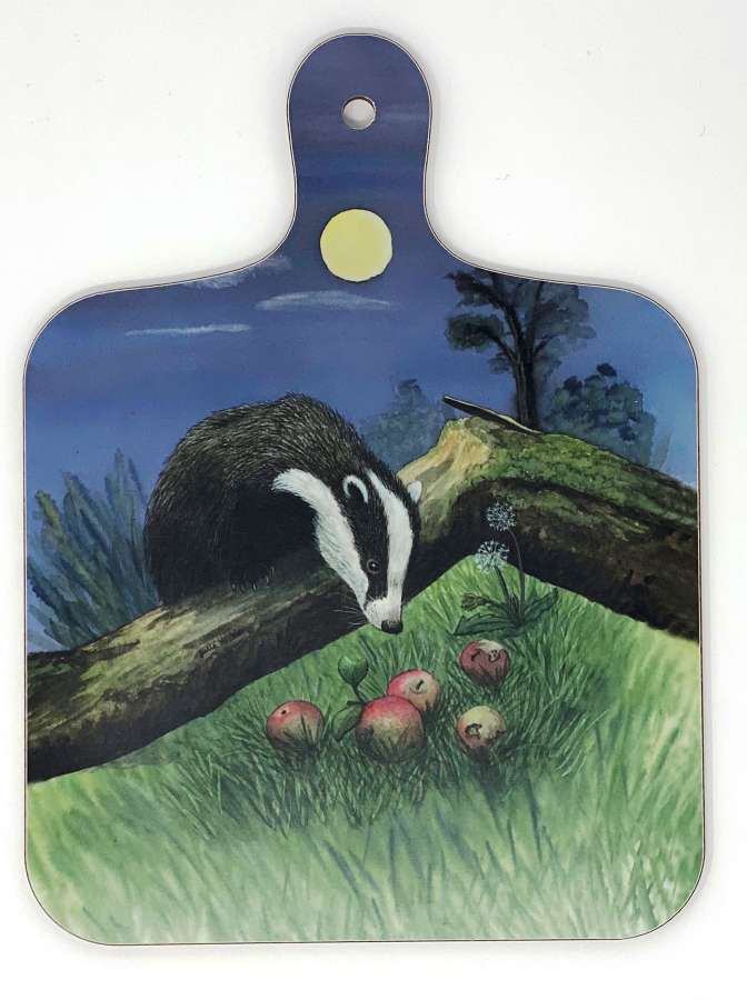 Mini Chopping Board - Badger