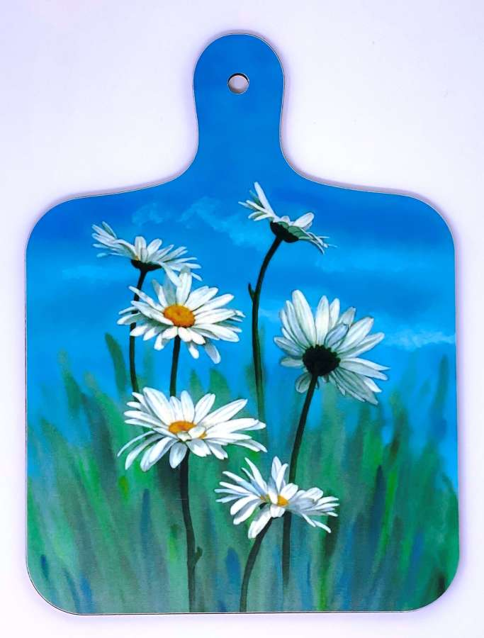 Mini Chopping Board - Daisy