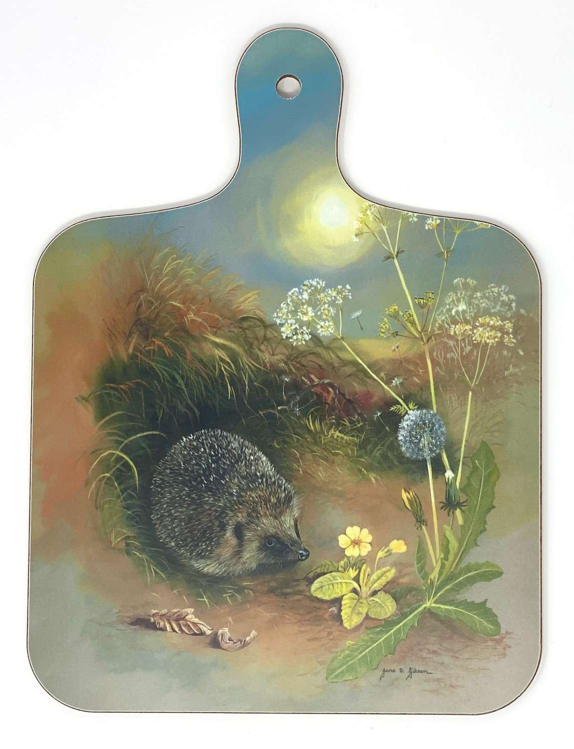 Mini Chopping Board - Hedgehog