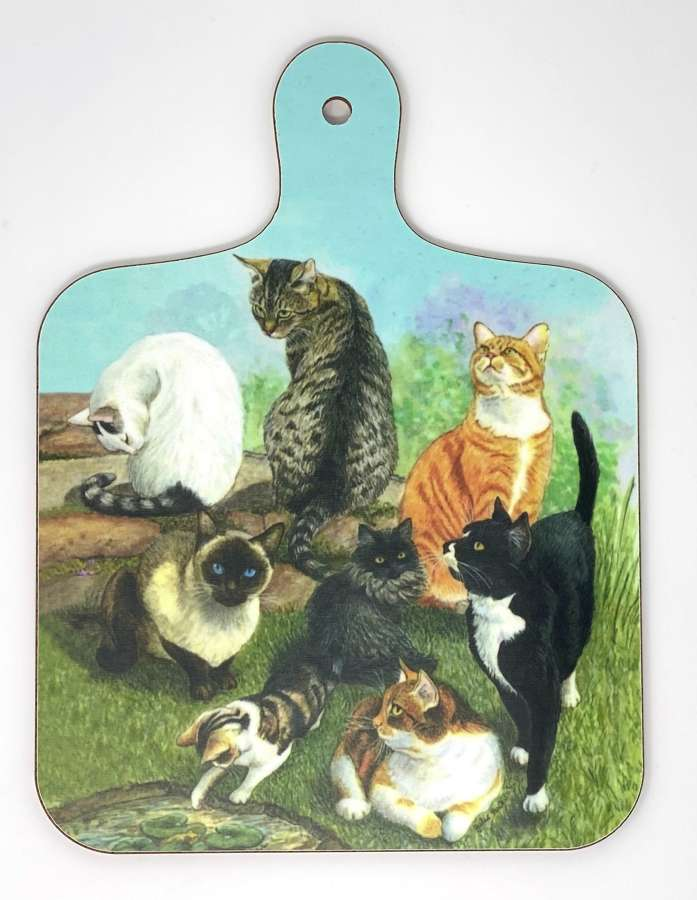 Mini Chopping Board - Catscape