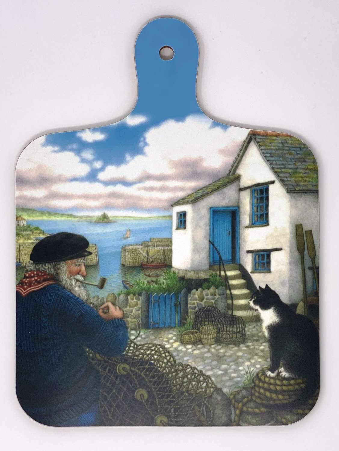 Mini Chopping Board - Mousehole